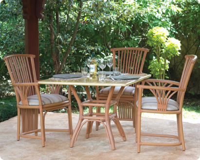 dining set with arms ramboo colour cane products cane range dining sets masai